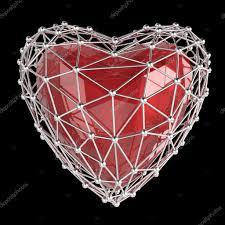 concept mariage cristal basse poly brillant en cage en forme de coeur d atom