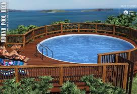 round pool deck 3d models lilflame