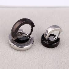 hoop huggie online get cheap stainless steel hoop huggie mens earrings
