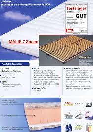 gute matratze set 7 zonen kaltschaum matratze malie u0026 lattenrost starozon