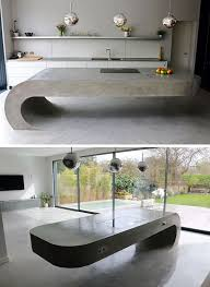 Kitchen Counter Top Design by Top 25 Best Concrete Kitchen Ideas On Pinterest Natural Kitchen