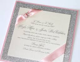 silver wedding invitations pink and silver wedding invitations gorgeous silver glitter