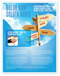 credits and loans flyer template background in microsoft word