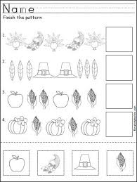 free thanksgiving pattern worksheet crafts and worksheets for