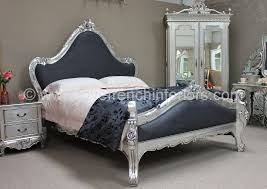 silver bed catherine french bed in silver leaf