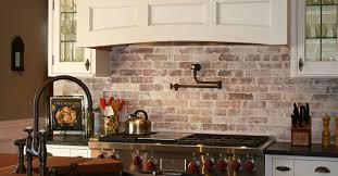 interior brick veneer stacked stone backsplash kitchen ideas for