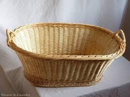 panier rond en osier corbeille à linge ovale 73cm en osier artisanat vente en ligne
