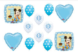 baby mickey 1st birthday baby mickey mouse birthday 1st party balloons