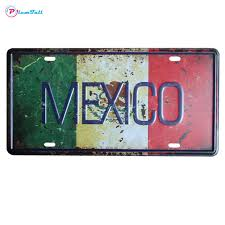 plumtall city country car metal license plate vintage home decor