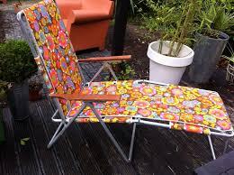 Patio Furniture Loungers Vintage Retro Sun Lounger Deckchair Garden Recliner Chair Vw