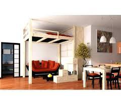 mezzanine bureau lit en hauteur 2 places lit mezzanine 1 place bureau integre