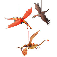 paper dragons hanging paper dragons djeco creative and decoration for kids