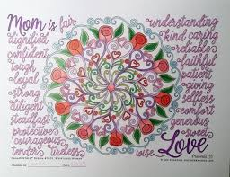 a virtuous woman ornamentals coloring page for mother u0027s day