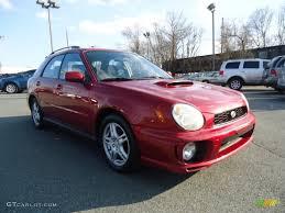 2002 sedona red pearl subaru impreza wrx wagon 59415846 photo 3