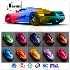 multi color powdered paint pigments car paint colors pearl