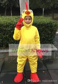 Mascot Costumes Halloween Adorable Yellow Chicken Mascot Costume Kids Halloween