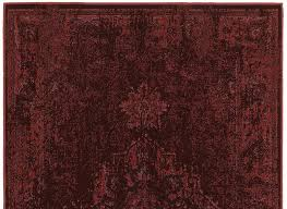 dark red worn persian style rug woodwaves
