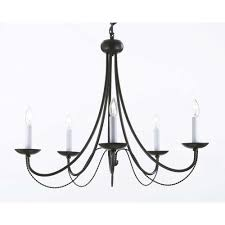 Black Iron Chandeliers Versailles 5 Light Black Iron Chandelier T40 460 The Home Depot