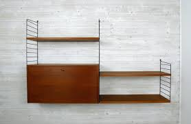 String Shelving by Teak Wall Unit With Cabinet By Nisse Strinning For String 1950s