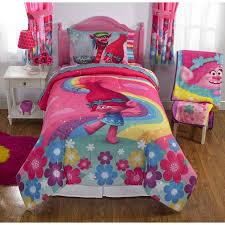 Comforter At Walmart Dreamwork U0027s Trolls Poppy Reversible Twin Full Bedding Walmart Com