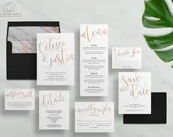 wedding invitation set wedding invitation kits etsy au