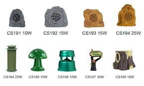 cs191r 10w outdoor landscape rock garden speaker with motion