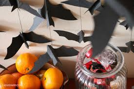 Halloween Crafts Made Out Of Paper by Diy Video Thrifty Halloween Decorations Flying Paper Bats Garland