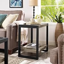 end table black 24 ore international walker edison furniture company urban blend ash grey storage side