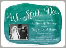 free printable vow renewal invitations we still do custom anniversary or vow renewal photo invitation design