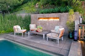 Outdoor Metal Fireplaces - outdoor fireplace with gas lanterns patio contemporary with patio