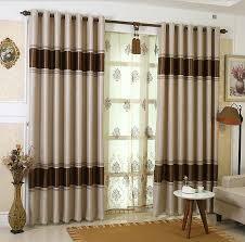 Simple Curtains For Living Room Simple Modern Coffee Color Of Polyester Fabric Blackout Curtain