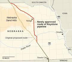 keystone xl pipeline map nebraska governor approves keystone xl route the york times