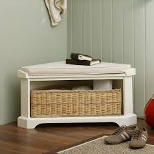 Corner Storage Bench Cheap Corner Storage Bench With Basket Railing Stairs And