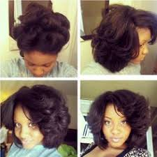 hairstyles for black women no heat natural hair before after silk press curled no chemicals