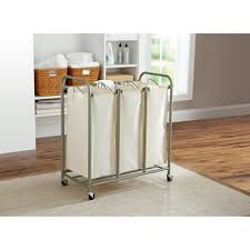 better homes and gardens 3 bag laundry sorter brown ivory