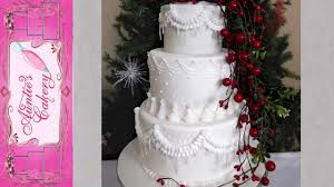 winter wedding cakes winter wedding cake