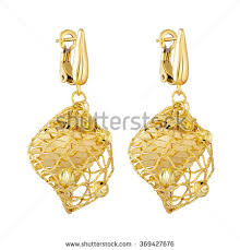earrings in gold gold earrings stock images royalty free images vectors