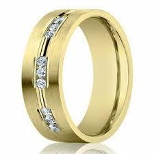 wedding ring designs gold men s designer gold wedding ring with 9 diamonds 6mm width