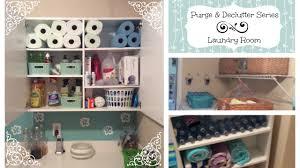 purge u0026 declutter series laundry room organization youtube