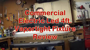 commercial electric 4ft led vaportight light youtube