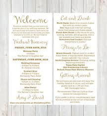 wedding itinerary best 25 wedding itineraries ideas on wedding program