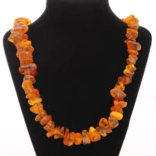 natural amber necklace images Genuine baltic amber rough cut necklace vintageanelia on artfire jpg