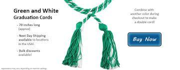 graduation cords cheap graduation cords in green and white
