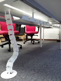 under table cable tray ceiling to desk cable management uk hbm blog