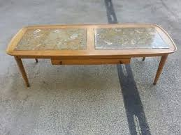 Surfboard Coffee Table Rare Mid Century Tomlinson Sophisticate Marble Inlaid Surfboard