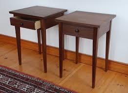 shaker sofa table handmade shaker walnut night table custom made in vermont