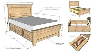 Goods Home Design Diy Diy Farmhouse Storage Bed With Storage Drawers Home Design
