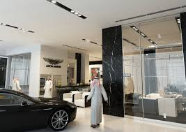 aston martin showroom parcon interior design