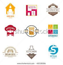 Kitchen Furniture Company Icon Logo Template Furniture Shop Company Stock Vector 482199394