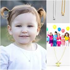 children s initial necklace for candy couture shop children s initial necklace